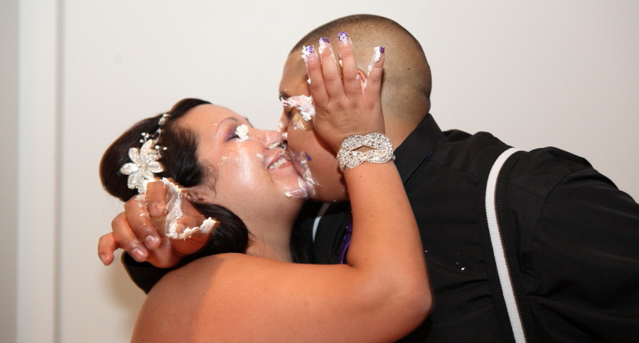Cake on faces